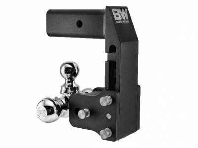 "B and W Towing Products - B&W TS20067BMP - Tow and Stow Hitch Ball Mount for GMC Multi-Pro Tailgate *2.5"" SHANK"" - 7"" Drop 7 1/2"" Rise - Tri Ball 1-7/8"" x  2"" x 2- 5/16"""