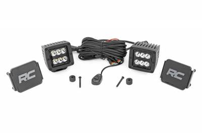 Rough Country - Rough Country Black Series LED Fog Light Kit 70062