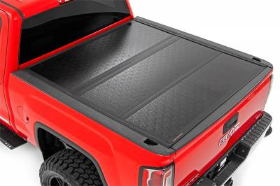 Rough Country - Rough Country Hard Tri-Fold Tonneau Bed Cover 47119551