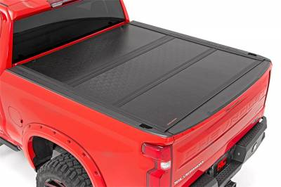 Rough Country - Rough Country Hard Tri-Fold Tonneau Bed Cover 47120580