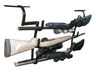 Miller - Miller - 231-3 - Ultra Full Size Truck Seat Rack Headrest 3 Gun and Bow Holder