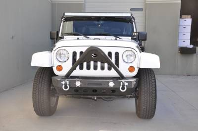 DV8 Off-Road - DV8 Off-Road  LFS-9 Breach Series Front Bumper with LED Lights - Jeep Wrangler JK