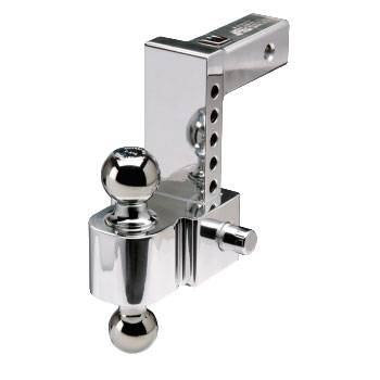 """Fastway Trailer Products - Fastway 42-00-2400 Flash E Series Ball Mount - 4"""" Drop - 2"""" and 2 5/16"""" Chrome Balls"""