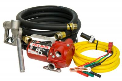 Fill-Rite - Fill-Rite RD812NH 12Volt Portable DC Fuel Transfer Pump With Hose and Nozzle