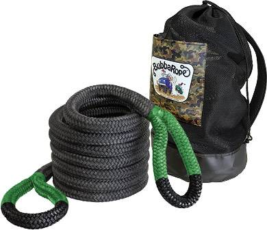 "Bubba Rope Recovery Ropes - Bubba Rope - Bubba Rope 176730GRG Jumbo Bubba  1 1/2"" x 30' Recovery Rope - 74,000 lbs. Breaking Strength"