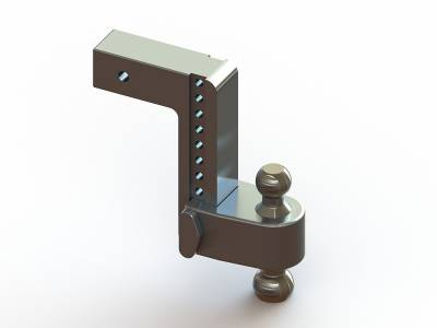 "Weigh Safe Trailer Hitches - Weigh Safe - Weigh Safe TB8-2.5 Adjustable Hitch Ball Mount  8"" Drop - 2.5"" Shaft"