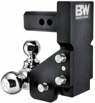 "B and W Towing Products - B&W TS10064BMP - Multi-Pro Tow and Stow Adjustable Ball Mount Model - 2.5"" Drop 3 1/2"" Rise - 1 7/8"" x 2"" Ball x 2 5/16"" - Image 2"