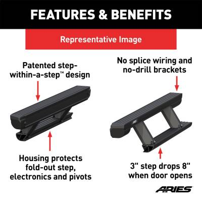 ARIES - ARIES ActionTrac Powered Running Boards 3047923 - Image 3