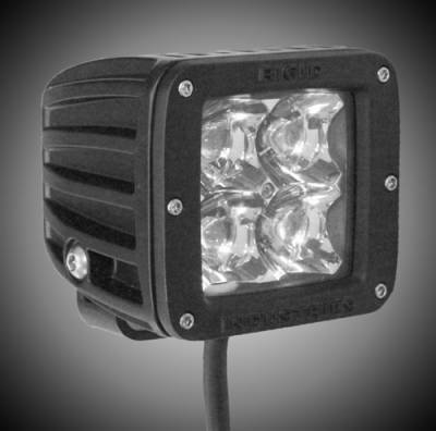 Fog/Driving Lights and Components - Fog Light Kit - Rigid - Rigid Industries 2x2 - Dually - LED Light - Flood - AMBER - Single