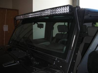 "Fog/Driving Lights and Components - Offroad/Racing Lamp Kit - Rigid - Rigid Industries E Series 50"" LED Lightbar Mount for Jeep Wrangler JK"