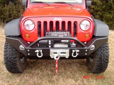 Rock Hard 4x4 Parts - Rock Hard 4x4 Parts RH5005 Full Width Front Bumper - Jeep JK