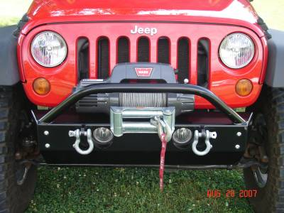 Rock Hard 4x4 Parts - Rock Hard 4x4 Parts RH5001-B Shorty Front Bumper - Jeep JK