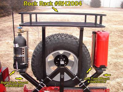 Rock Hard 4x4 Parts - Rock Hard 4x4 Parts RH2003LT Tank Mount - Left Side