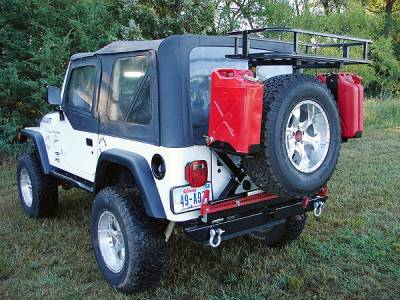 Rock Hard 4x4 Parts Rh2001 C Rear Bumper And Tire Carrier