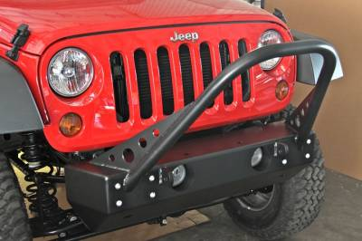 Rock Hard 4x4 Parts - Rock Hard 4x4 Parts RH5007 Shorty Stinger Front Bumper - Jeep JK