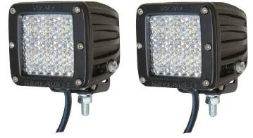 Fog/Driving Lights and Components - Offroad/Racing Lamp Kit - Rigid - Rigid Industries Dually D2 LED Light - Diffusion 60 Degree - White - Pair