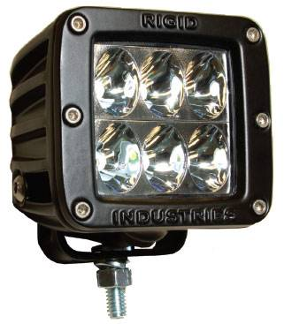 Fog/Driving Lights and Components - Offroad/Racing Lamp Kit - Rigid - Rigid Industries Dually D2 LED Light - Driving - White - Single