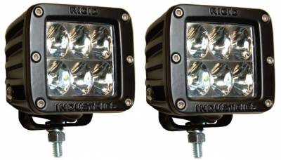 Fog/Driving Lights and Components - Offroad/Racing Lamp Kit - Rigid - Rigid Industries Dually D2 LED Light - Wide - White - Pair