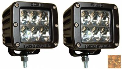 Fog/Driving Lights and Components - Offroad/Racing Lamp Kit - Rigid - Rigid Industries Dually D2 LED Light - Wide - Amber - Pair