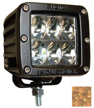 Fog/Driving Lights and Components - Offroad/Racing Lamp Kit - Rigid - Rigid Industries Dually D2 LED Light - Wide - Amber - Single
