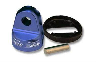 Factor 55 - Factor 55 ProLink Loaded - 00015-02 - Shackle Mount With Titanium Pin & Rubber Guard - Blue