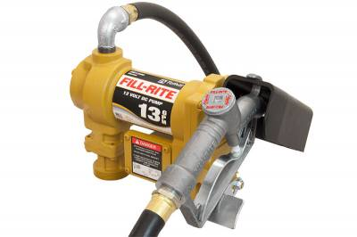 Fill-Rite - Fill-Rite - FR-SD1202G - 12 Volt DC Pump with Hose and Manual Nozzle